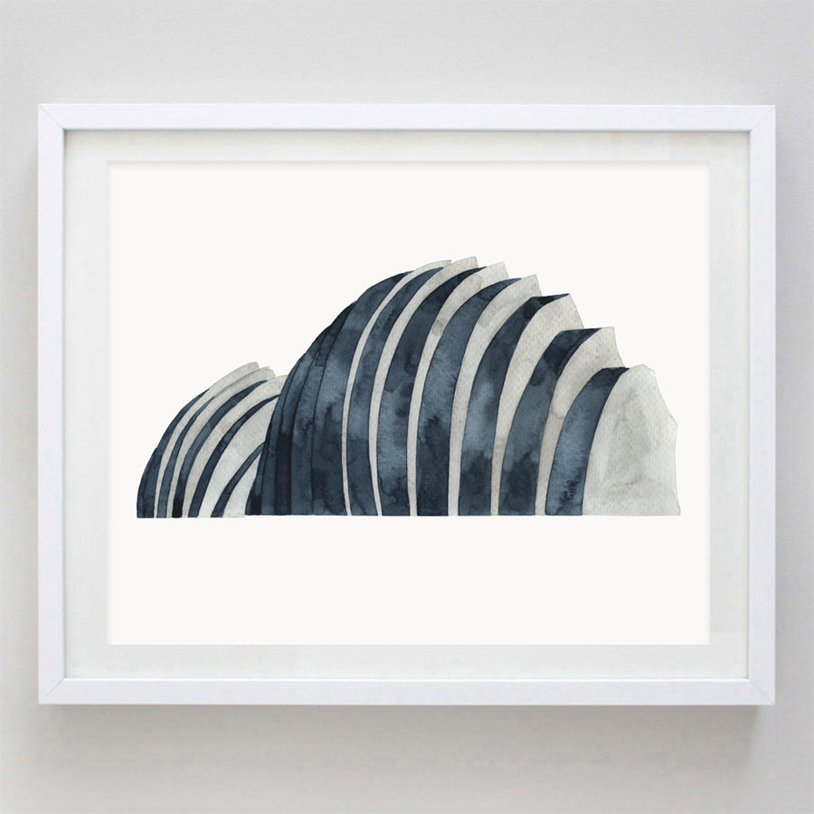 Kauffman Center KC Watercolor Print