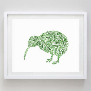 Kiwi Bird New Zealand Watercolor Print