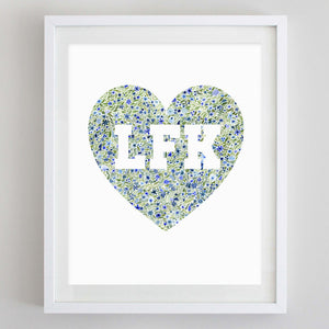 LFK Heart Floral Watercolor Print