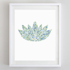 Lotus Yoga Floral Watercolor Art Print