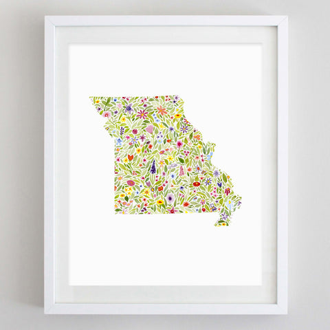art print - missouri floral watercolor print - carly rae studio