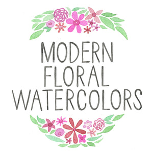 February 12th Modern Floral Watercolors
