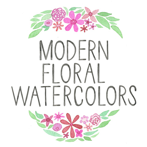 July 12th Modern Floral Watercolors - Sign up on Pink Antlers Website!