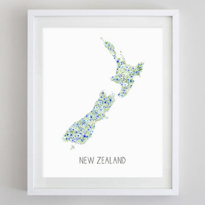 Custom Country Floral Watercolor Print