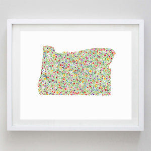 art print - oregon floral watercolor print - carly rae studio