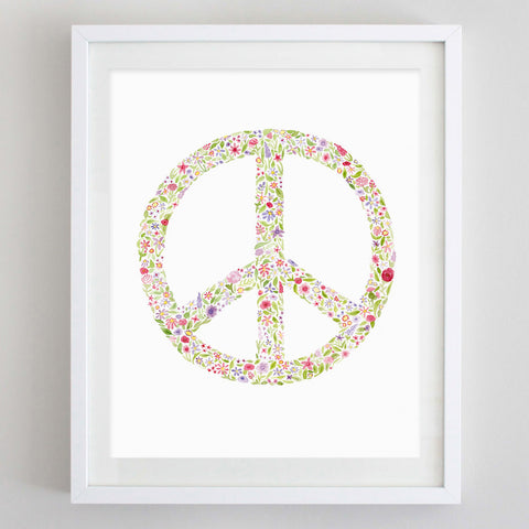 art print - peace watercolor print - carly rae studio