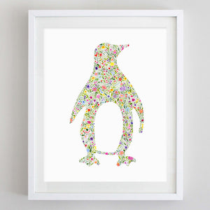 art print - penguin watercolor print - carly rae studio