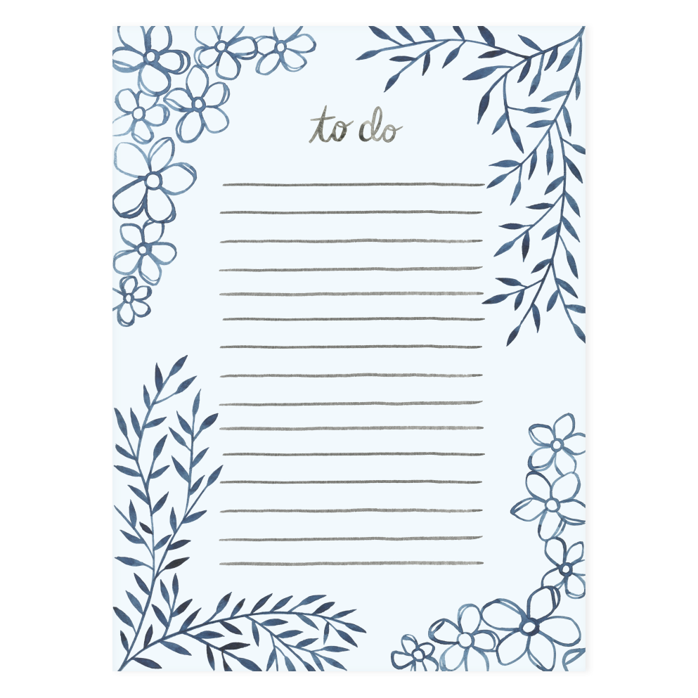 To Do Floral Notepad