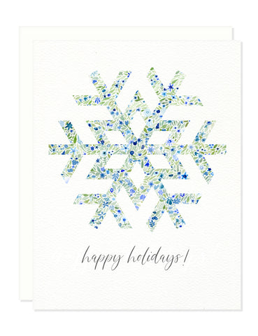Snowflake Holiday Greeting Card