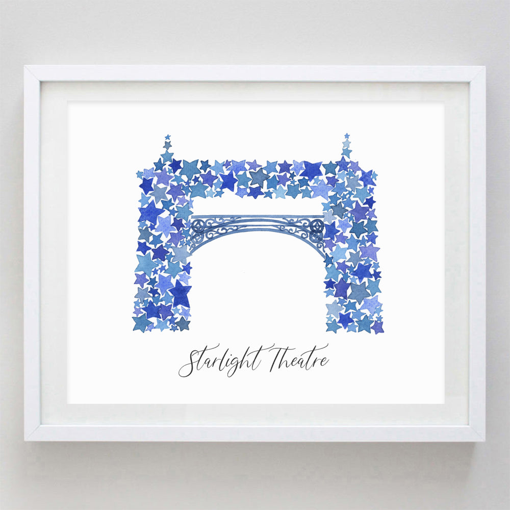 Starlight Kansas City Watercolor Print