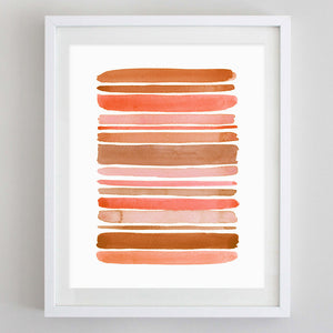 Stripes Watercolor Print