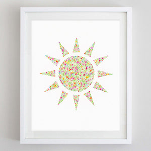 art print - sun floral watercolor print - carly rae studio