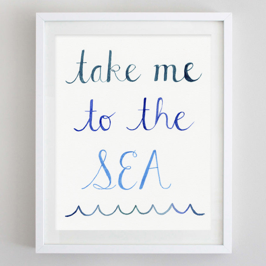 art print - take me to the see watercolor print - carly rae studio