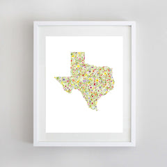 ANY State Floral Watercolor Print (Montana-Wyoming)