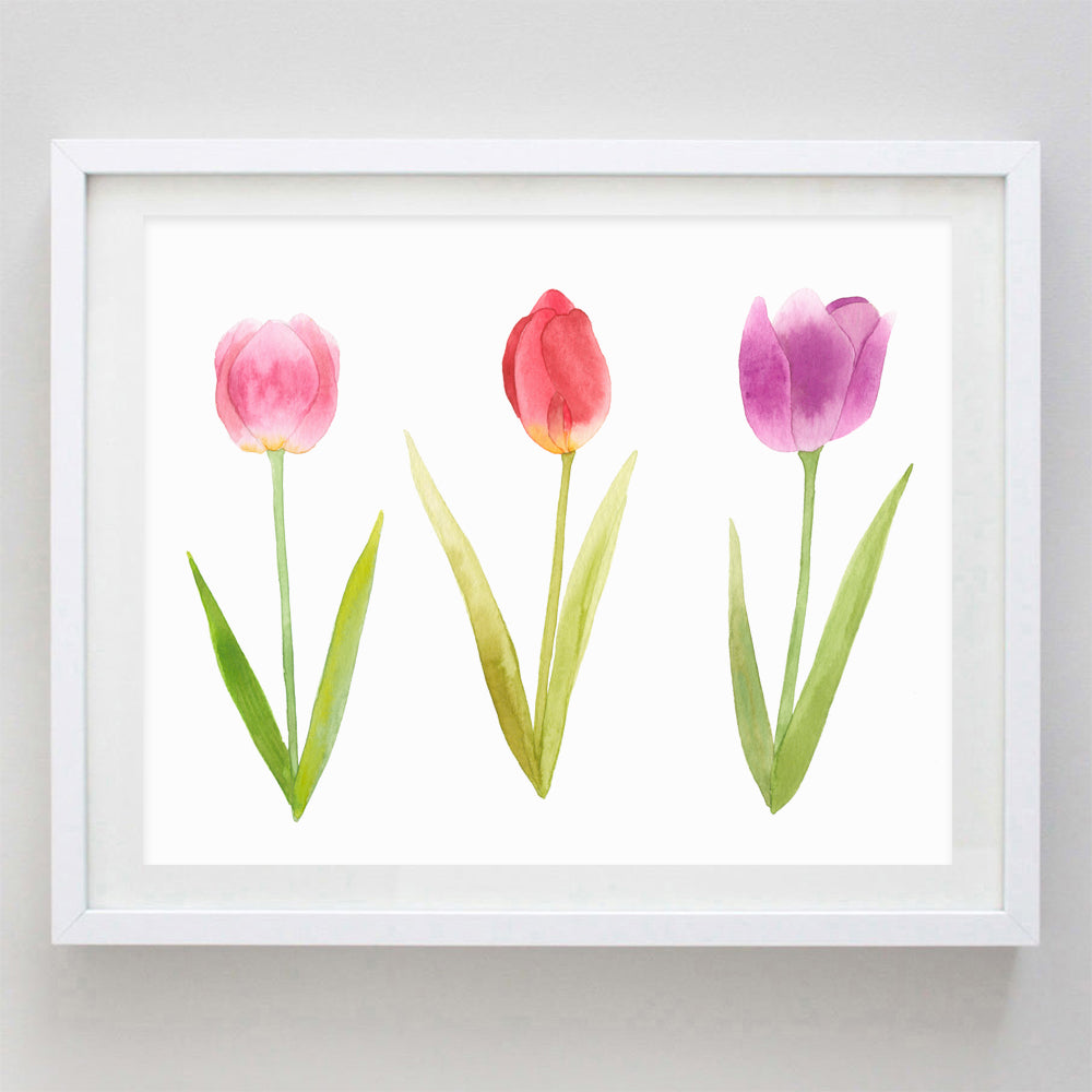 Tulip Watercolor Print