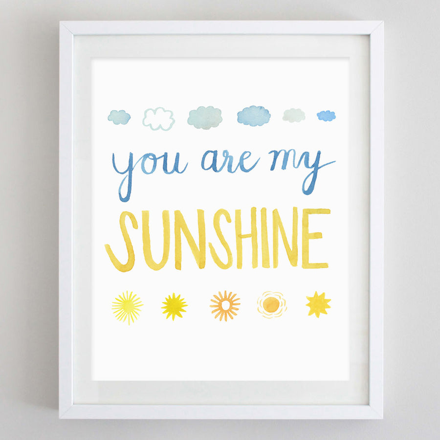 art print - you're my sunshine watercolor print - carly rae studio