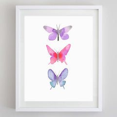 Butterflies 3 Watercolor Print