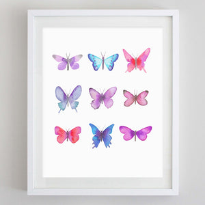 Butterflies 2 Watercolor Print