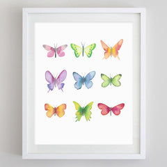 Butterflies 4 Watercolor Print