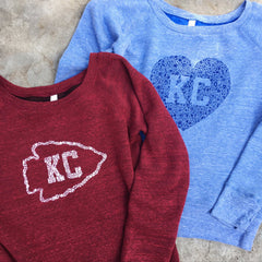 Women's Kansas City Floral Heart Sweatshirt