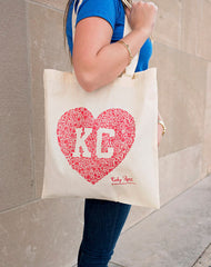 Kansas City Floral Heart Tote
