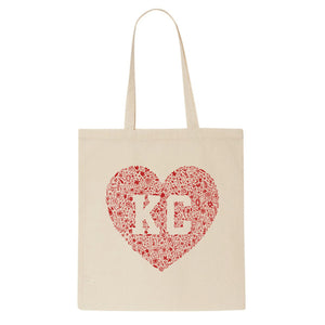 tote - kansas city floral heart tote - carly rae studio