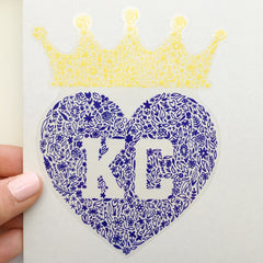 kansas city floral heart decal - carly are studio