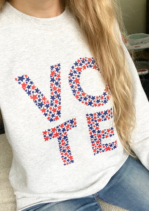 Vote Sweatshirt Light Grey - Unisex