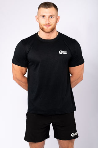 Mens Small Print Black T-Shirt