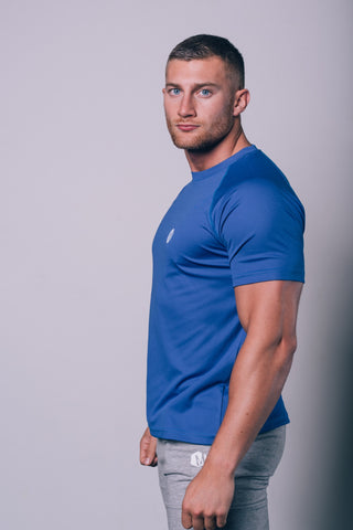 Mens Hex Poly T-Shirt Blue