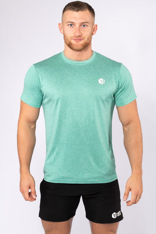 Mens Hex Poly T-Shirt Green