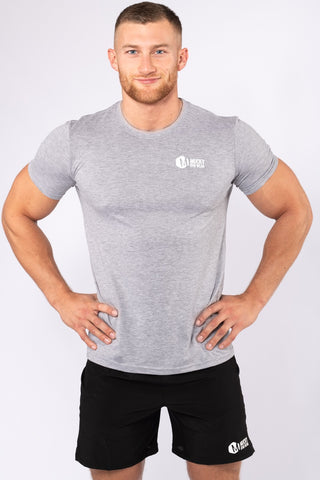 Mens Small Print Grey T-Shirt