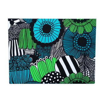 Siirtolapuutarha canvas 122x91cm in white, green, black