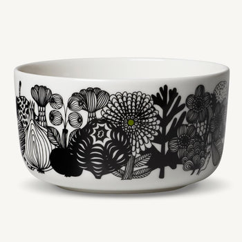 Siirtolapuutarha Bowl 5DL in white, black, green