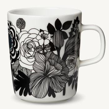 Siirtolapuutarha Mug 2.5DL in white, black, blue