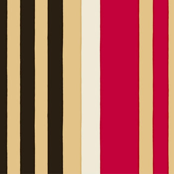 Ralli Fabric in beige, red, black