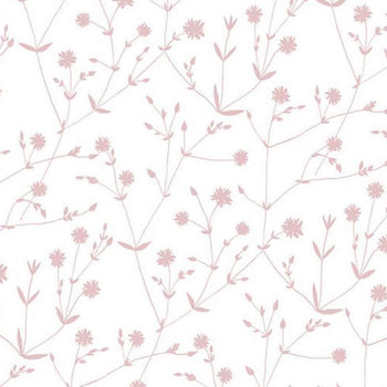 Illalla Wallpaper Pink on White