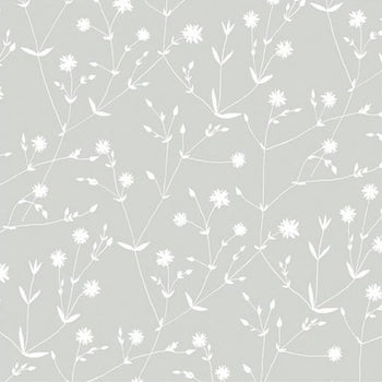 Illalla Wallpaper White on Grey