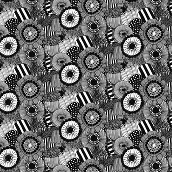 Pieni Siirt. Fabric in black, white