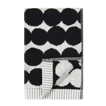 Rasymatto Guest Towel 30x50cm in white, black