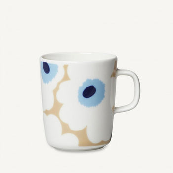 Unikko mug 2.5dl in beige, off white, blue