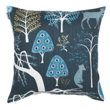 Woodland Cushion 45cm in blue