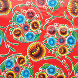 Florapola Oilcloth in red