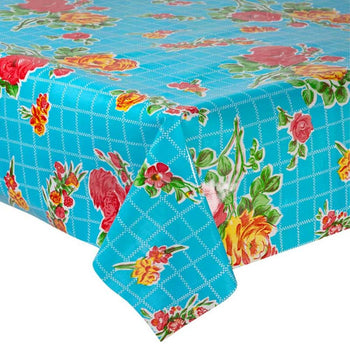 Rosedal Oilcloth in blue