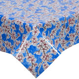 Cherry Blossom Oilcloth in blue
