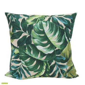 Leafy Tangle Outdoor Cushion 50cm in green