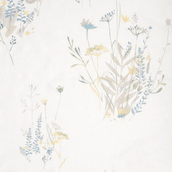 Wild Flower in Golden Mist on White Linen