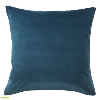 Deep Blue Velvet with Linen back Cushion Cover 45x45cm