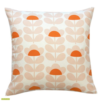 Sweet Pea 40cm cushion cover in orange and pink