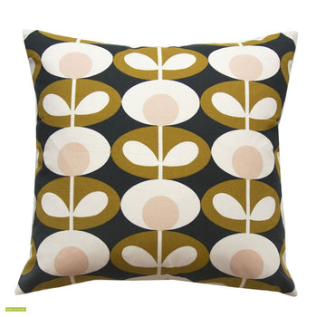Oval Flower 40cm Cushion in seagrass